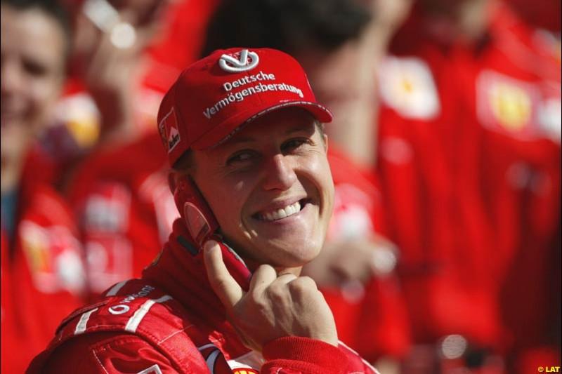 2002 Spanish Grand Prix, Barcelona, Spain. Friday, 25th April 2002. Michael Schumacher, Ferrari