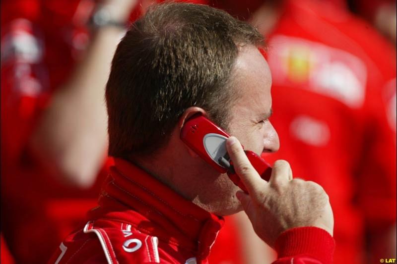 2002 Spanish Grand Prix, Barcelona, Spain. Friday, 25th April 2002. Rubens Barrichello, Ferrari