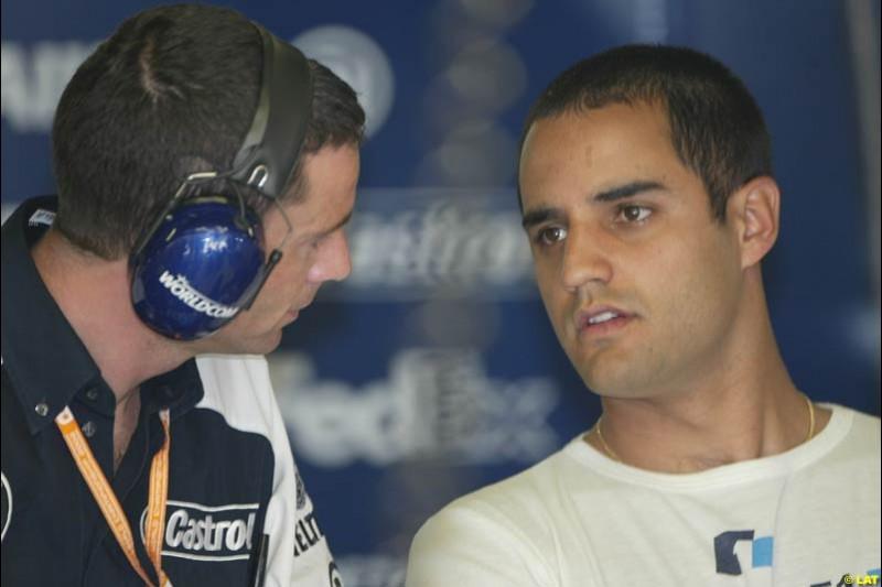 2002 Spanish Grand Prix, Barcelona, Spain. Friday, 25th April 2002. Juan Pablo Montoya, Williams