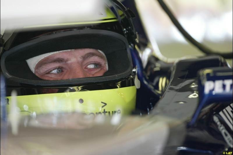 2002 Spanish Grand Prix, Barcelona, Spain. Friday, 25th April 2002. Ralf Schumacher, Williams