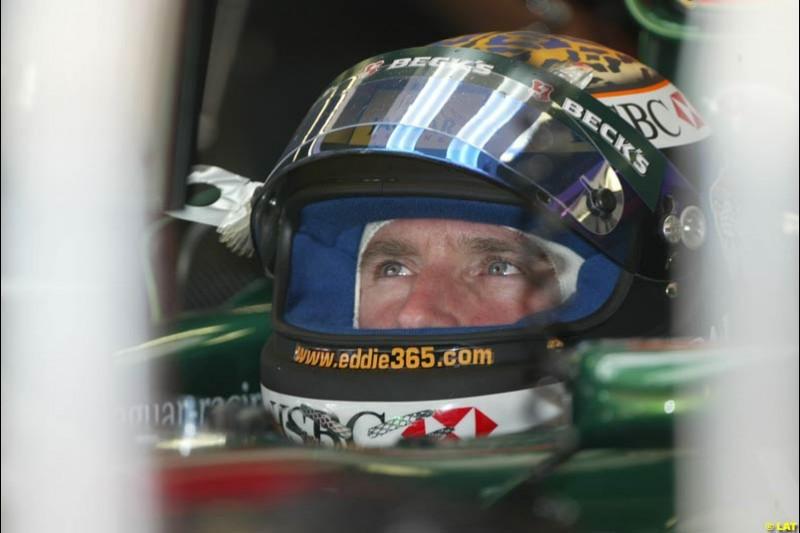 2002 Spanish Grand Prix, Barcelona, Spain. Friday, 25th April 2002. Eddie Irvine, Jaguar
