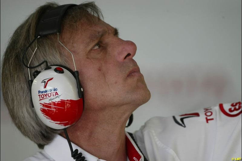 2002 Spanish Grand Prix, Barcelona, Spain. Friday, 25th April 2002. Gustav Brunner, Toyota