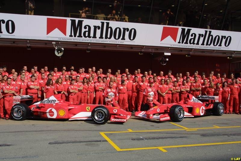 2002 Spanish Grand Prix - Preparations - Barcelona, Spain, 25th April 2002.