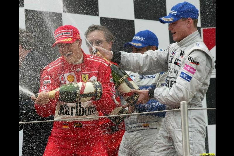 2002 Spanish Grand Prix, Barcelona, Spain. Sunday race. 28th April 2002.