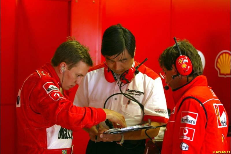 Luciano Burti, Ferrari, 2002 Formula One Testing, Monza, Italy. 29th May 2002.