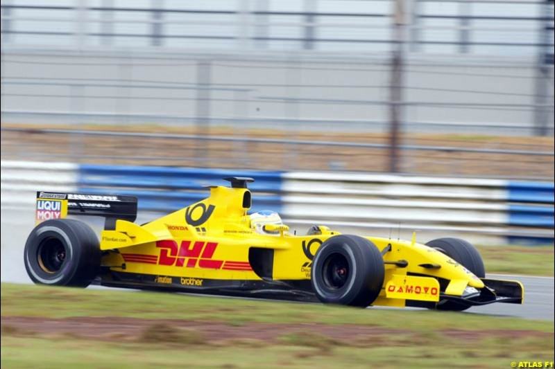 Giancarlo Fisichella, Jordan 2002 Formula One Testing, Silverstone, England. 28th May 2002.