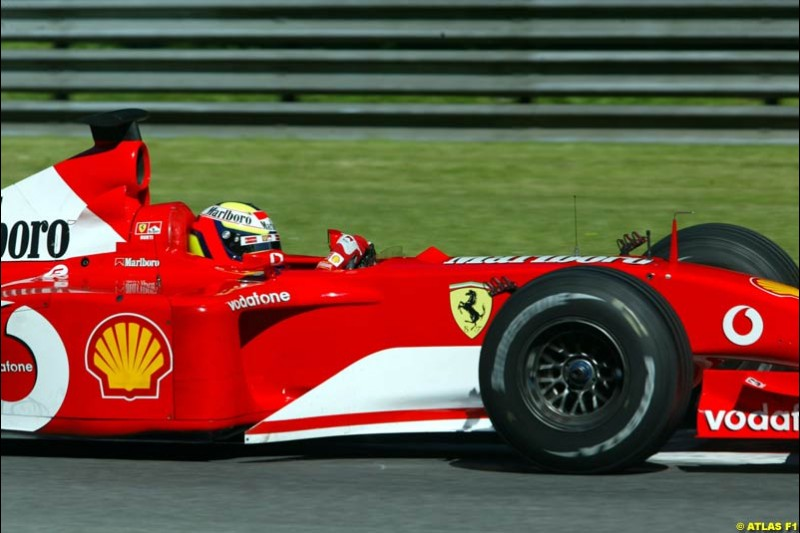 Luciano Burti, Ferrari, 2002 Formula One Testing, Monza, Italy. 28tht May 2002.