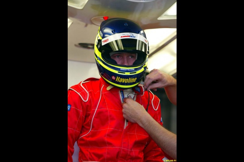 Chrisitano Da Matta tests for Toyota at Paul Ricard, France. May 17th 2002