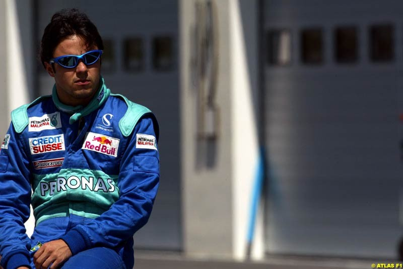 Felipe Massa, Sauber, 2002 Formula One Testing, Paul Ricard, France. 16th May 2002.
