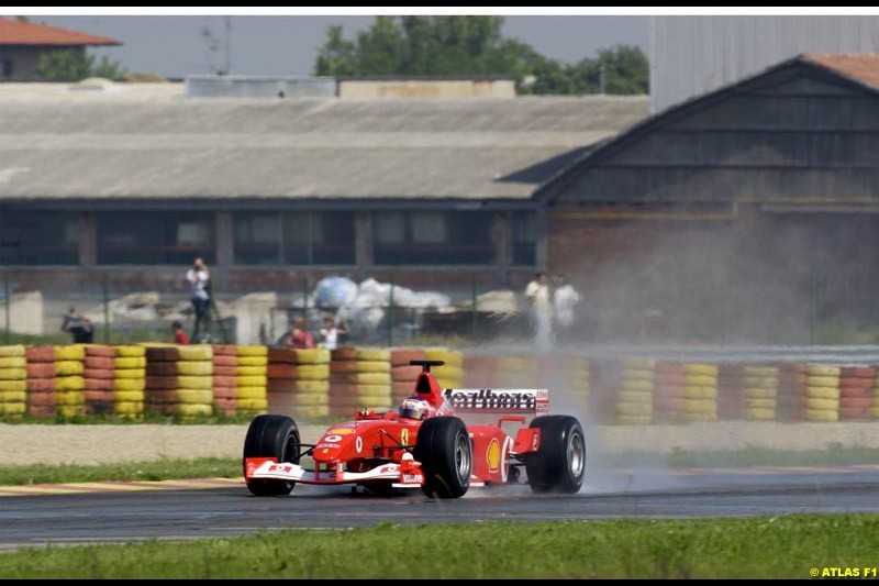 Rubens Barrichello, Ferrari 2002 Formula One Testing, Fiorano, Italy. 17th May 2002.