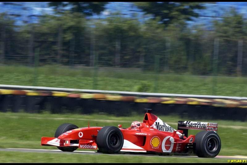 Michael Schumacher, Ferrari 2002 Formula One Testing, Fiorano, Italy. 16th May 2002.