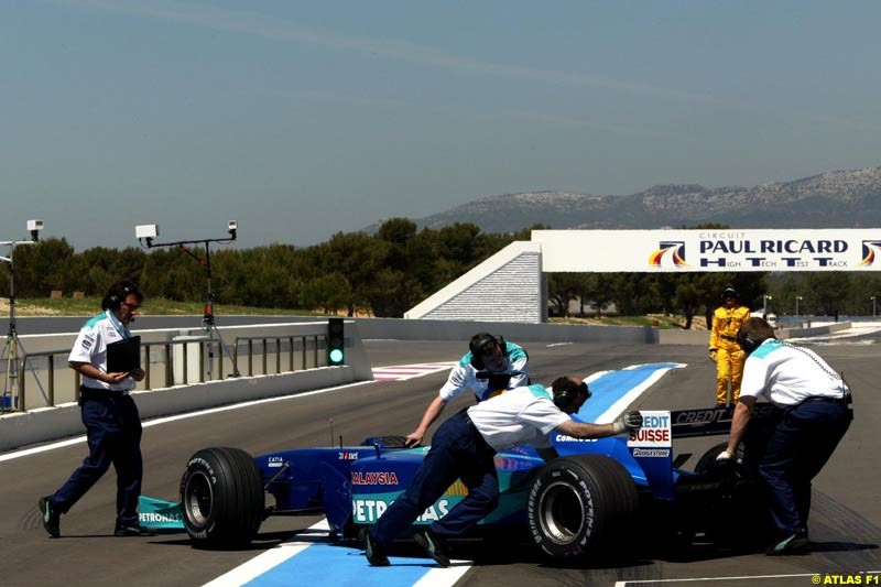 Nick Heidfeld, Sauber, 2002 Formula One Testing, Paul Ricard, France. 15th May 2002.