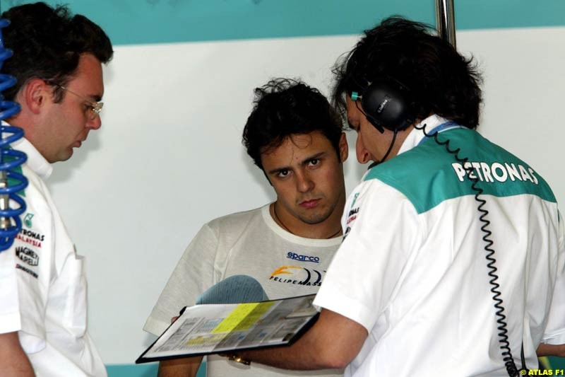 Felipe Massa, Sauber, 2002 Formula One Testing, Paul Ricard, France. 14th May 2002.