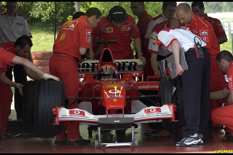 Michael Schumacher, Ferrari 2002 Formula One Testing, Fiorano, Italy. 15th May 2002.