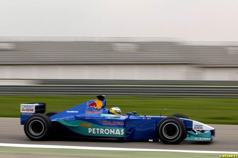 Nick Heidfeld Sauber, 2002 Formula One Testing, Valencia, Spain. 2nd May 2002.