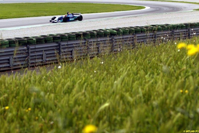 Felipe Massa, Sauber, 2002 Formula One Testing, Valencia, Spain. 1st May 2002.