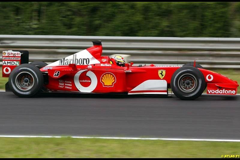 Luciano Buri, Ferrari, 2002 Formula One Testing, Monza, Italy. 1st May 2002.