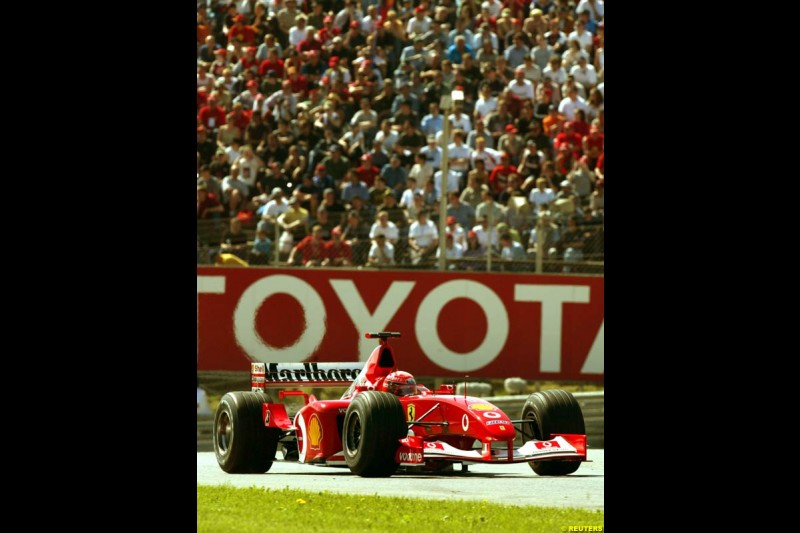 2002 Austrian Grand Prix - Saturday free practice. A1 Ring, Austria. 11th May 2002. Michael Schumacher, Ferrari