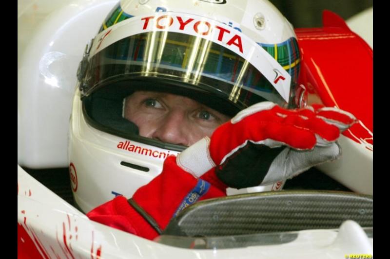 2002 Austrian Grand Prix - Friday free practice. A1 Ring, Austria. 10th May 2002. Allan McNish, Toyota