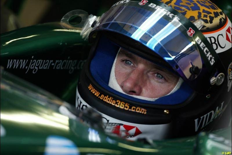 2002 Austrian Grand Prix - Friday free practice. A1 Ring, Austria. 10th May 2002. Eddie Irvine, Jaguar