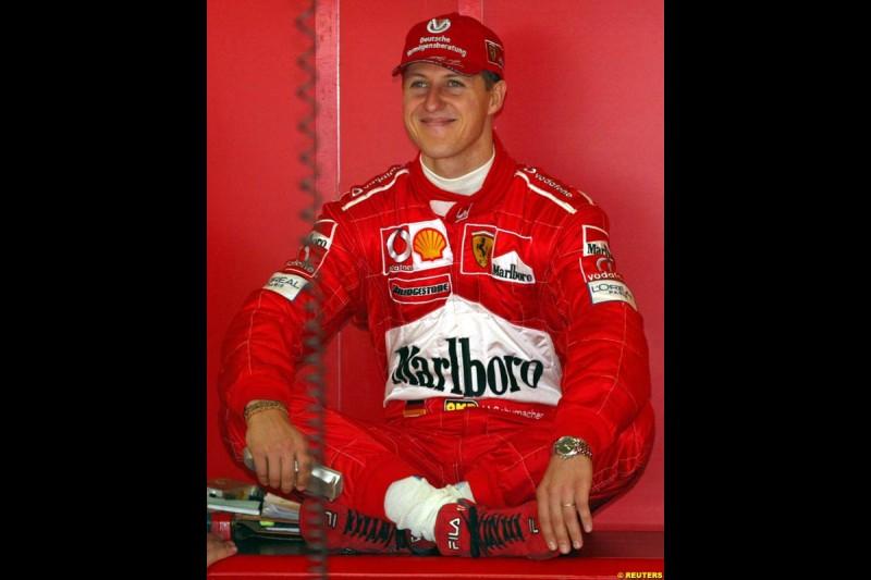 2002 Austrian Grand Prix - Friday free practice. A1 Ring, Austria. 10th May 2002. Michael Schumacher, Ferrari