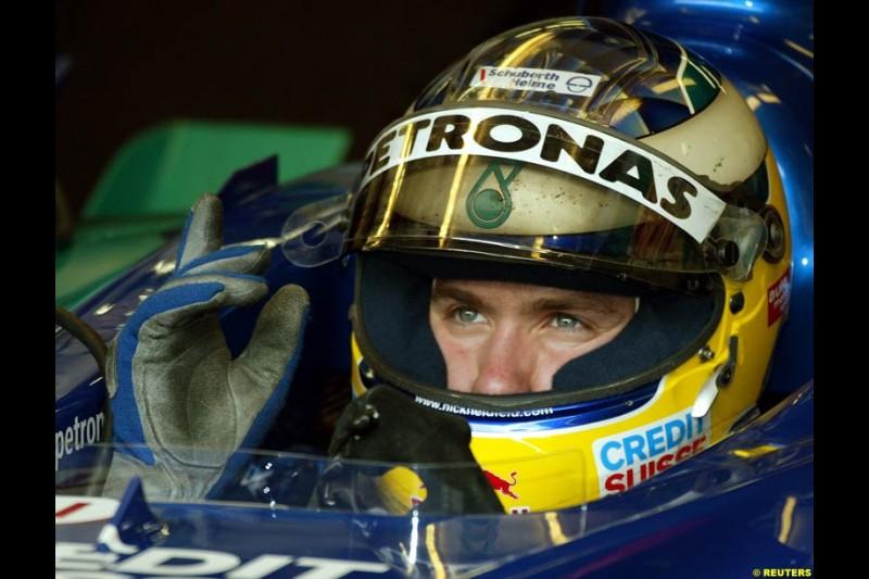 2002 Austrian Grand Prix - Friday free practice. A1 Ring, Austria. 10th May 2002. Nick Heidfeld, Sauber