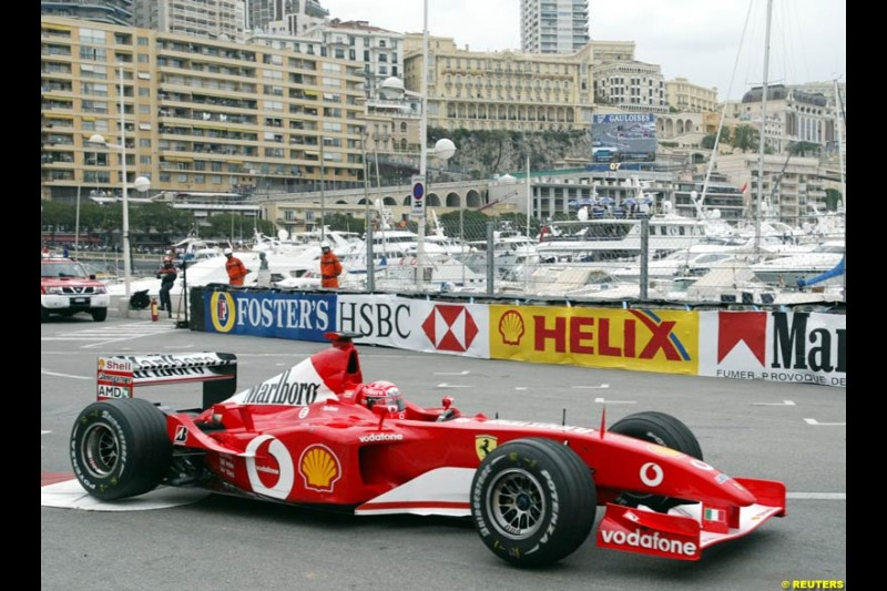 2002 Monaco Grand Prix - Thursday Free Practice. Monte Carlo, Monaco. 23rd May 2002