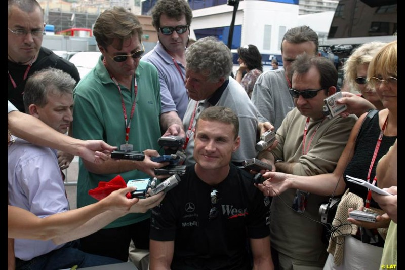 2002 Monaco Grand Prix - Wednesday. Monaco, Monte Carlo. 22nd May 2002. David Coulthard