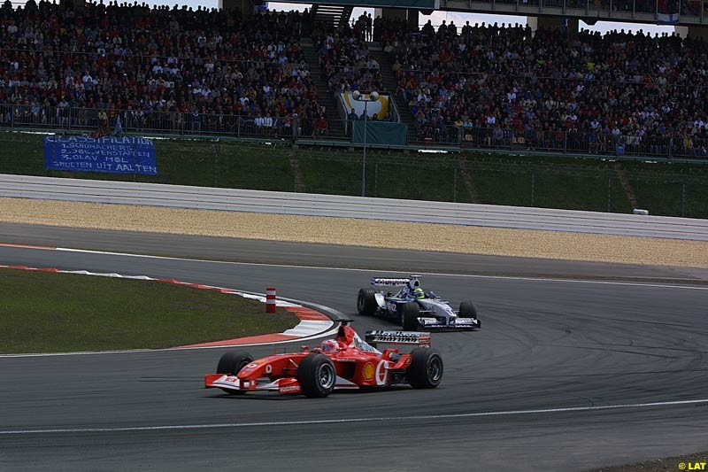 2002 European Grand Prix - Race. Nurburgring, Germany. 23rd June 2002