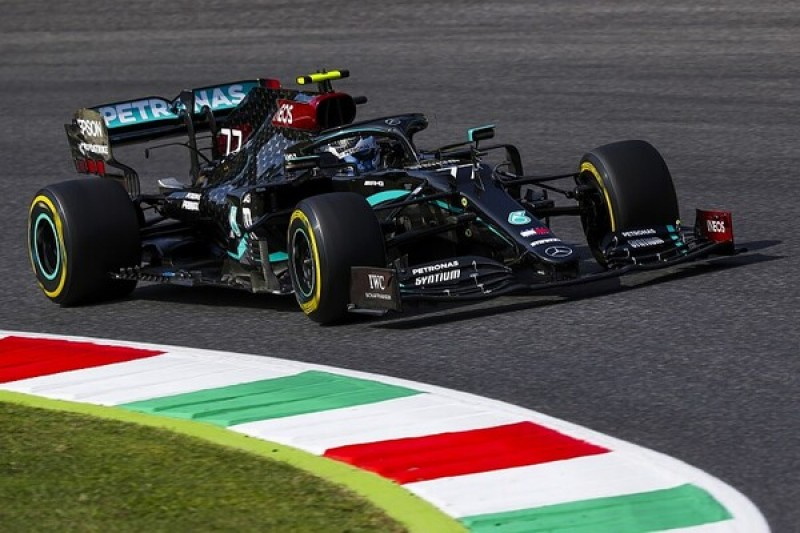 F1 Tuscan GP: Bottas leads Mercedes 1-2 at Mugello in twice-stopped session