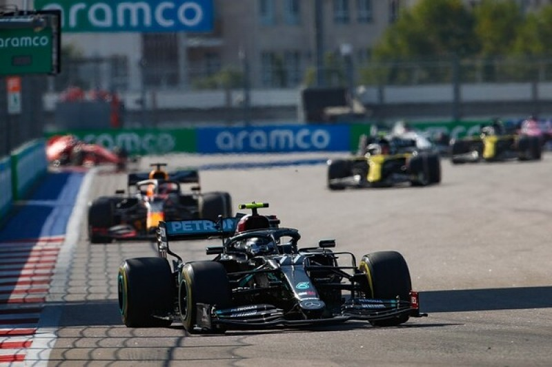 F1 Russian GP: Bottas in control to win in Sochi after Hamilton penalty