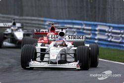 An aggressive Jacques Villeneuve in front of his public