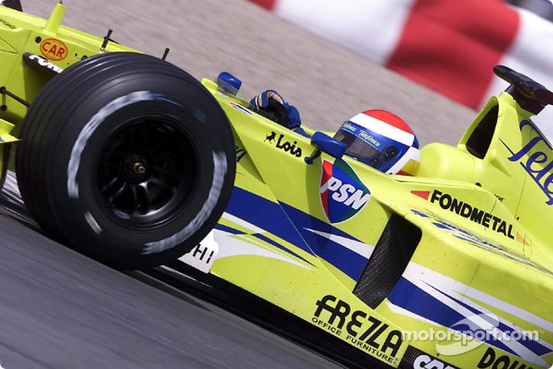Marc Gene making best, Minardi