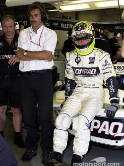 El director de BMW Motorsport, el doctor Mario Theissen y Ralf Schumacher