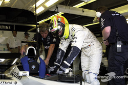 Ralf Schumacher getting ready