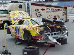 Auto accidentado de Rick Bickle