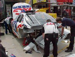 Parte trasera del auto dañado de David Green