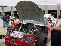 Parte frontal del auto de David Green