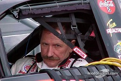 Dale Earnhardt in car before qualifying