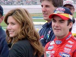 Jeff Gordon, Hendrick Motorsports, mit Ehefrau Brooke