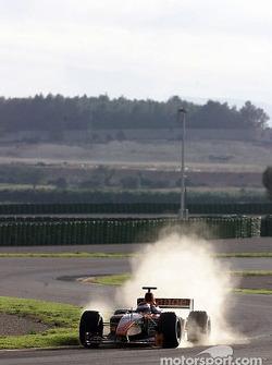 Jos Verstappen sur le circuit de Valence