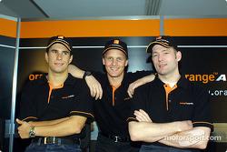 Enrique Bernoldi, Johnny Herbert and Jos Verstappen