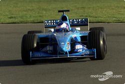 Jenson Button testi B201