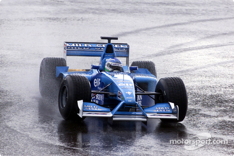 Giancarlo Fisichella durante unos test privados