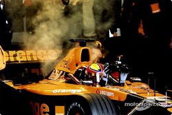 Enrique Bernoldi on fire