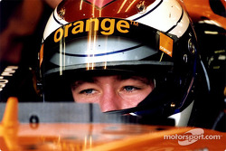Jos Verstappen in the garage