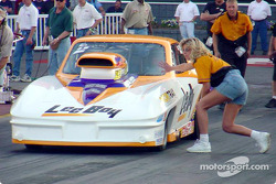 Quain Stott inches forward to the starting line in Pro Mod exhibition racing. Stott went on to take