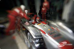 Emanuele Pirro in the Infineon Audi R8 #1