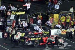 Ricky Rudd pits on his way to a 5th place finish