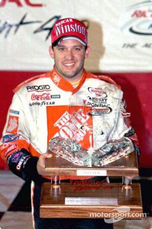 Race winner Tony Stewart